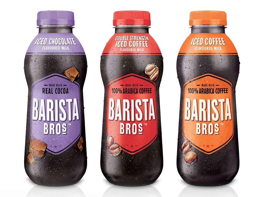 barista bros iced coffee chocolate bottle 500ml