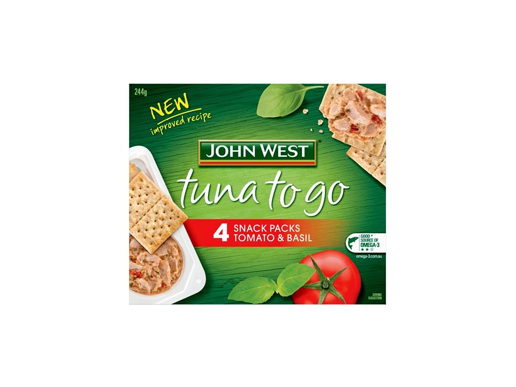 john west tuna2go tomato basil