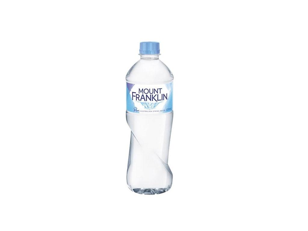 mt franklin water bottle 600ml
