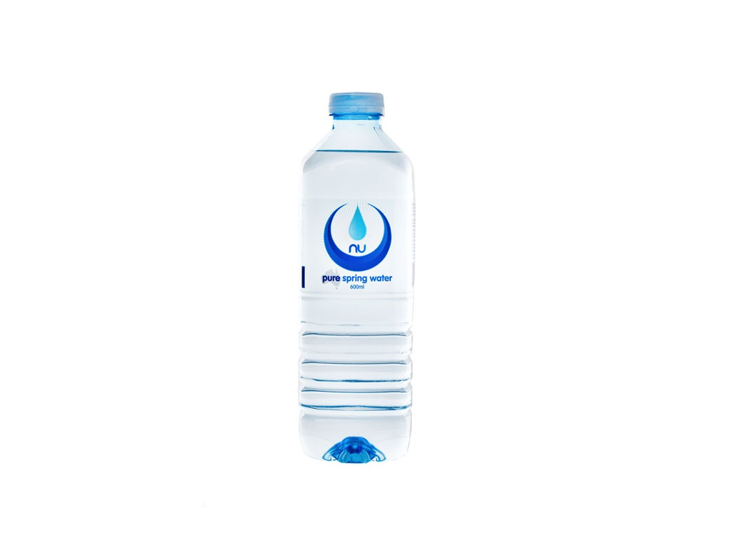 nu pure water bottle 600ml