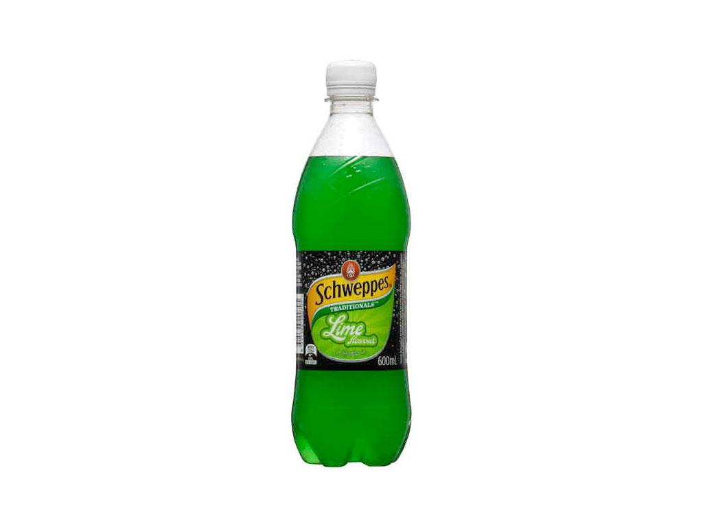 schweppes bottle traditional lime 600ml