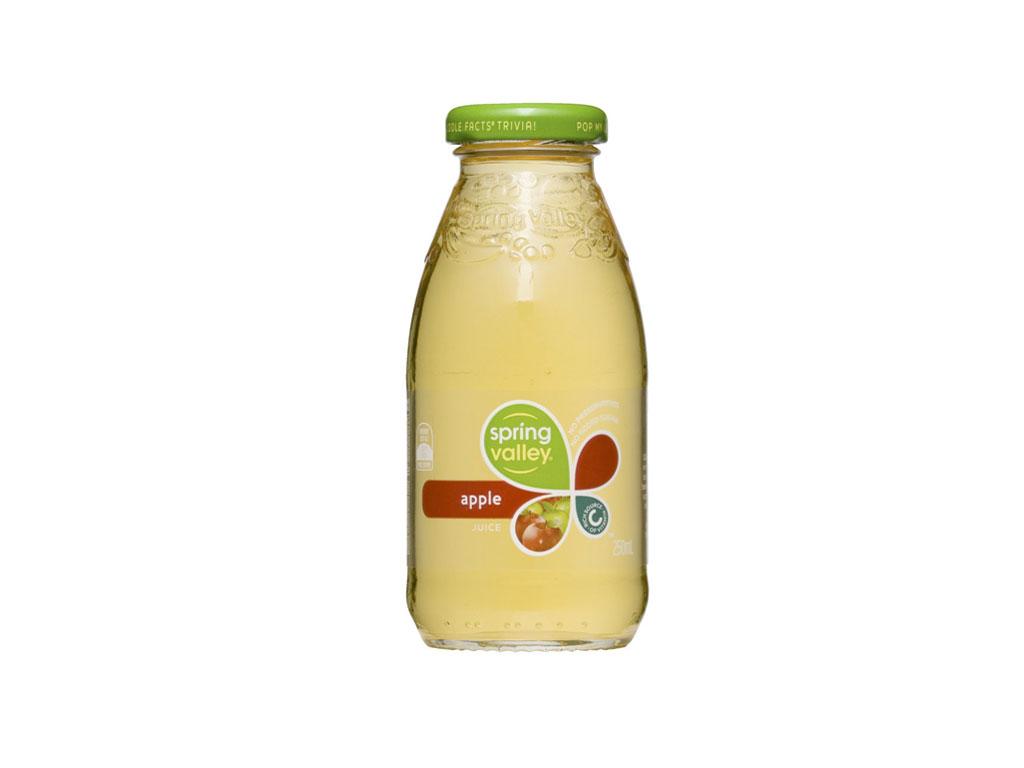spring valley apple juice bottle 350ml