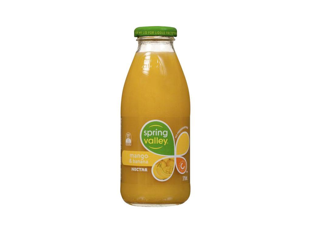 spring valley mango banana nectar bottle 350ml