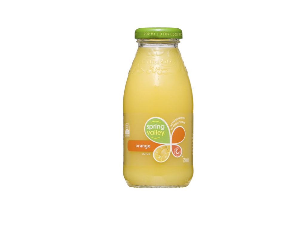 spring valley orange juice bottle 350ml